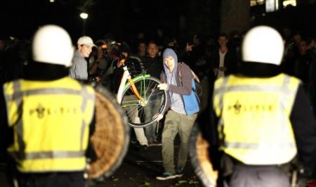 Charges en vernielingen in Haren