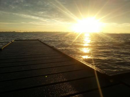 Zon op het Veersemeer