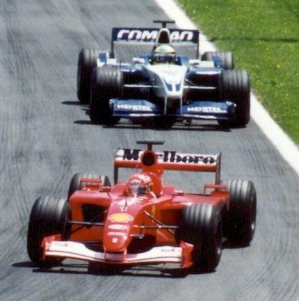 De gebroeders Schumacher opweg naar hun 1-2 in Canada (WikiCommons/Paul Lannuier)