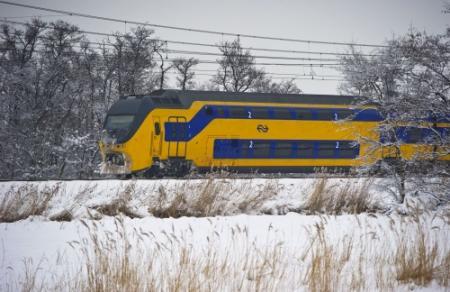 Minder treinen door sneeuwval