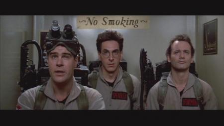 Dan Aykroyd, Harold Ramis en Bill Murray