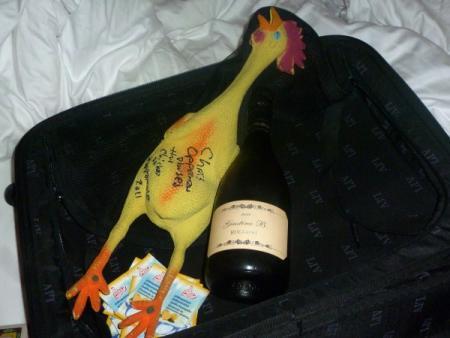 De koffer met de bubbeltjeswijn van Jan