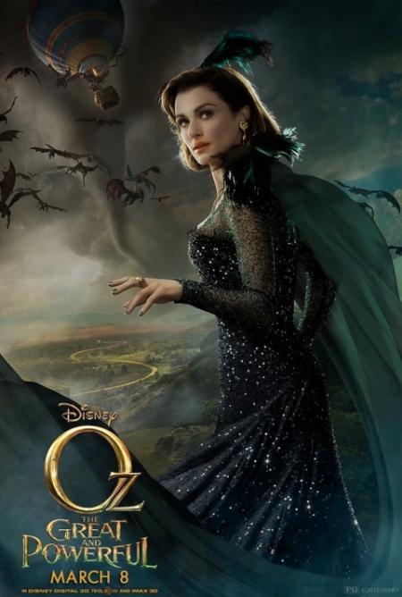 Rachel Weisz als de heks Evanora