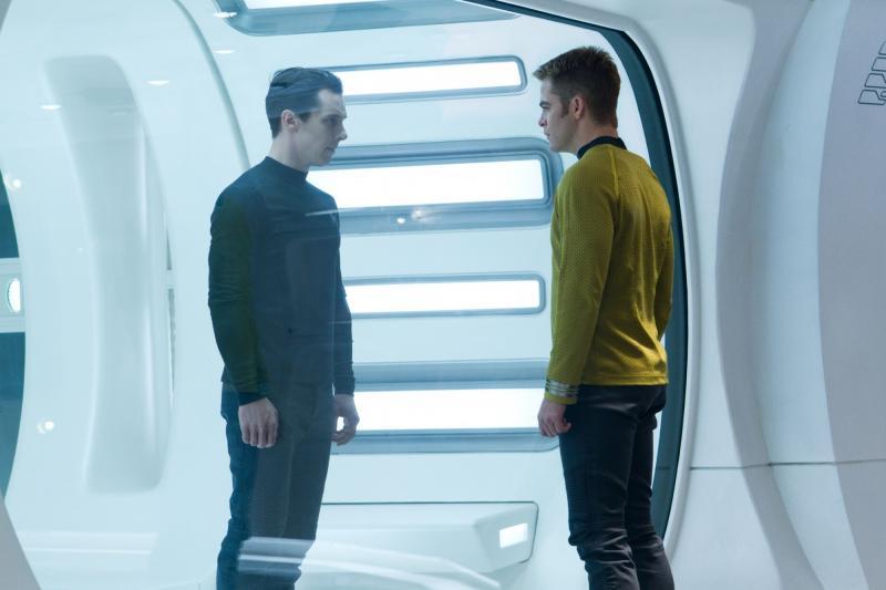 Star Trek Into Darkness: Benedict Cumberbatch en Chris Pine