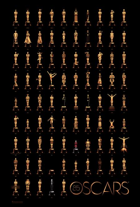 Olly Moss 85 Oscars Poster