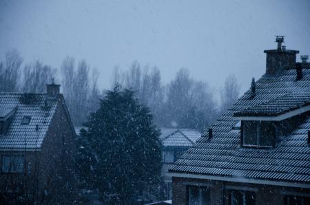 Sneeuwval in Den Helder
