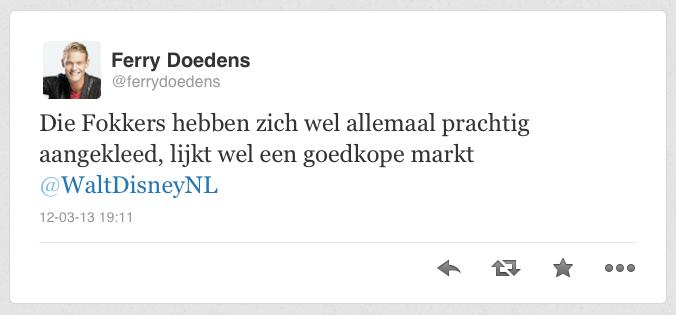 Tweet Ferry Doedens over FOK!kers en marktkleding (Foto: Webhawkjuh)