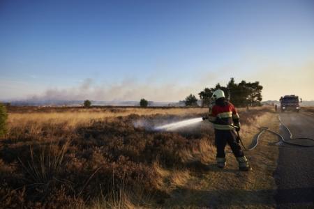 Heidegebied bij Leende door brand verwoest