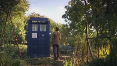 Eleventh Doctor met nieuwe TARDIS