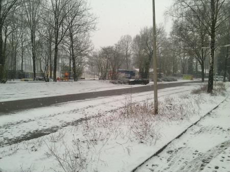 Winter eind maart.