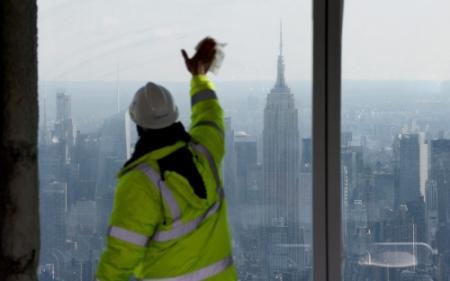 Nieuw WTC bereikt hoogste punt