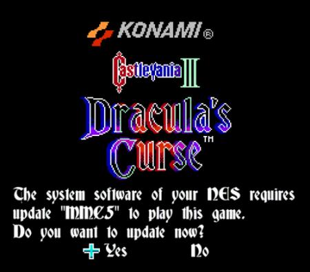 NES System update