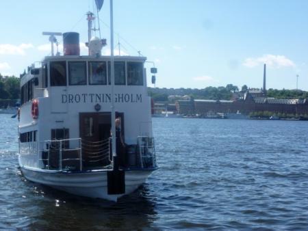 Boot naar Drottningholm