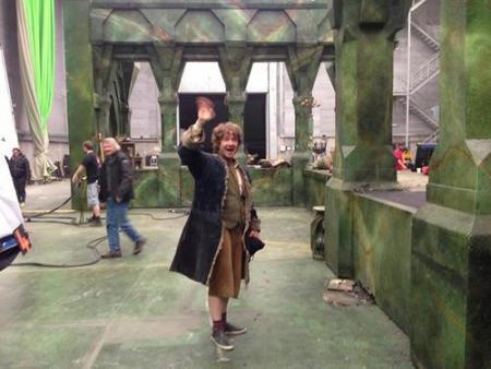 Afscheid van Martin Freeman in the Hobbit