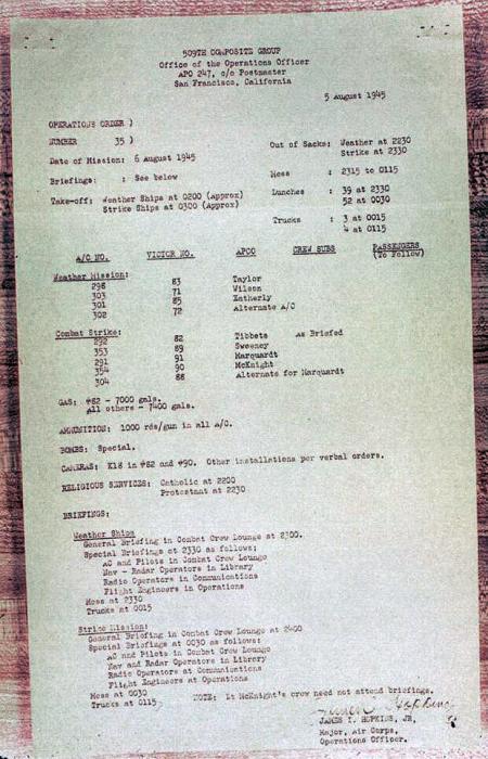 Het bevel: 5 augustus 1945
