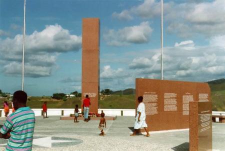 Hedendaags monument op Guadalcanal