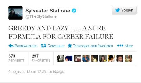 Stallone over Willis op Twitter