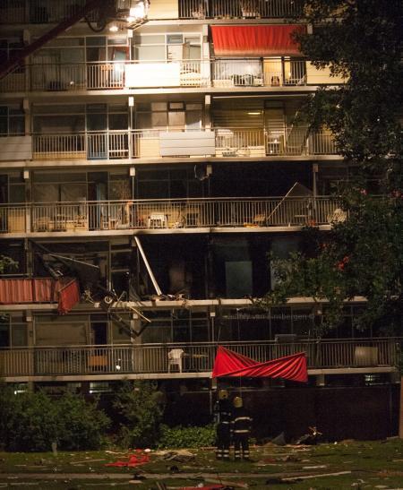 Schade aan flat (Foto: Jeffrey van Binsbergen)