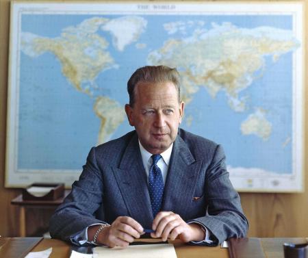 Dag Hammerskjöld, secr.-gen. van de VN (copyright Verenigde Naties, vrijgegeven)