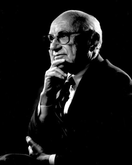 Milton Friedman gaf behalve Chicago Boys, ook na zijn dood het copyright vrij van al z'n foto's.