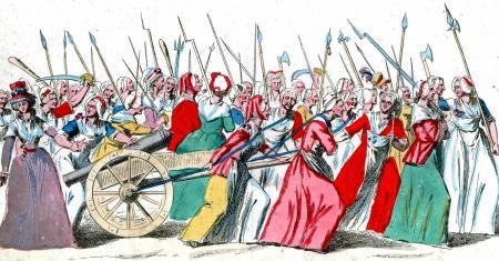 Boze vrouwen trekken op naar Versailles