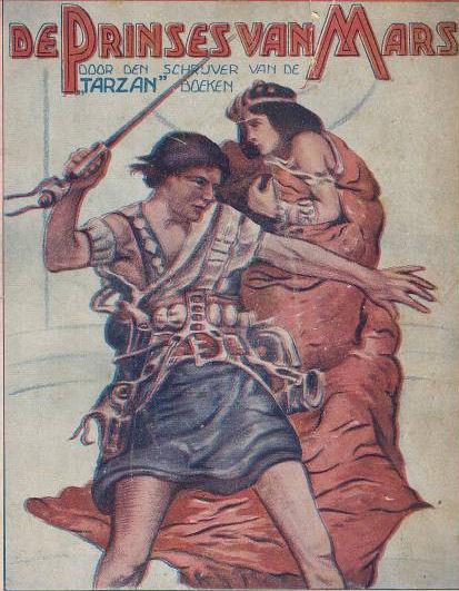 De eerste druk van De prinses van Mars uit 1922