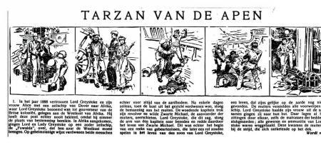 De strip Tarzan van de Apen uit het blad Frisia in 1940
