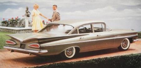 Bel Air Sedan, 1959; achterkant