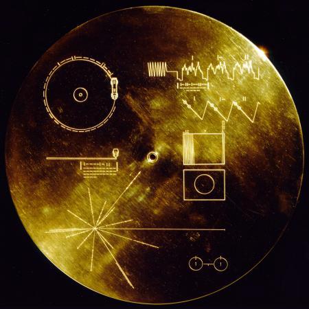 Hoes van de Voyager-plaat
