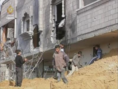 Bewoners Gaza tijdens oorlog 2009