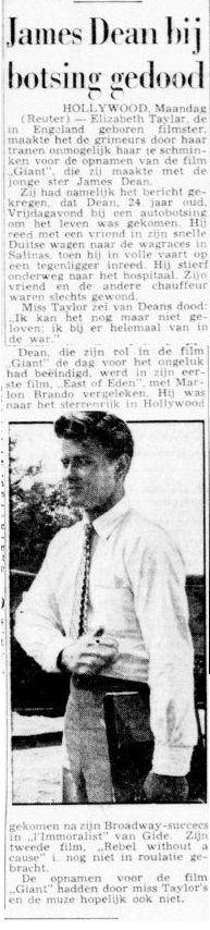 Uit de Telegraaf van 3 oktober 1955