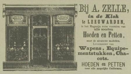 Een advertentie uit 1871