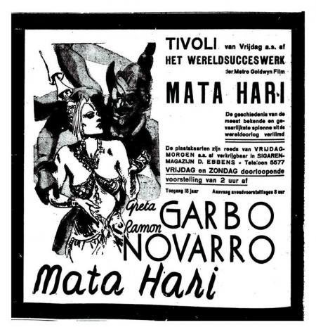 Greta Garbo als Mata Hari in 1932