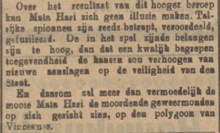 Uit De Sumatra Post van 16 oktober 1917