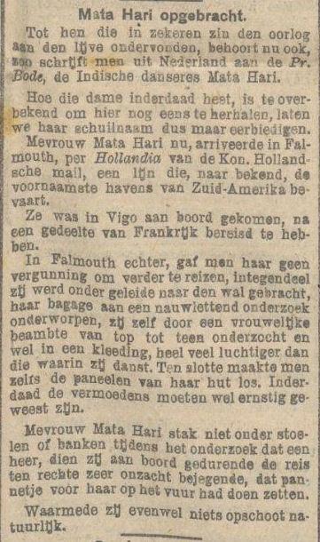 Uit Het nieuws van den dag voor Nederlandsch-Indie van 30 januari 1917