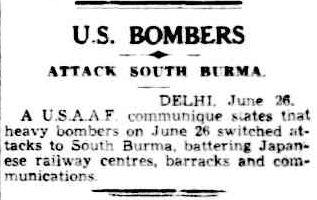 Uit de Cairns Post van 28 juni 1943