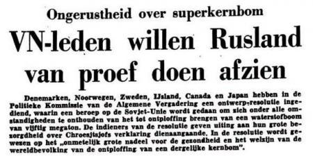 Uit de Leeuwarder Courant van 20 oktober 1961
