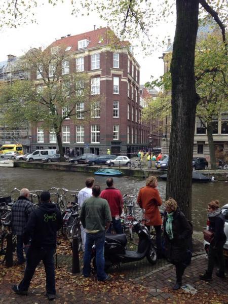 De omgewaaide boom op de Herengracht (Foto: donroyco)