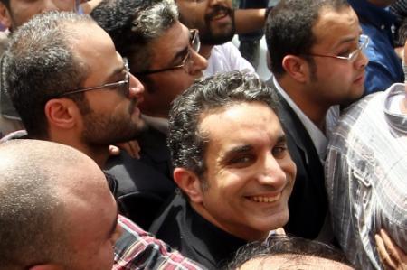 Satiricus van tv Egypte gehaald