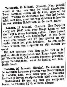 Uit de Leeuwarder Courant van 20 januari 1915
