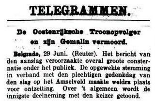 Uit de Leeuwarder Courant van 29 juni 1914