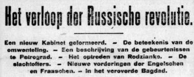 Uit de Telegraaf van 16 maart 1917