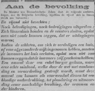 Uit de Volkstem van 25 augustus 1914