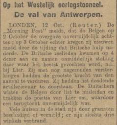 Uit het Algemeen Handelsblad van 12 oktober 1914