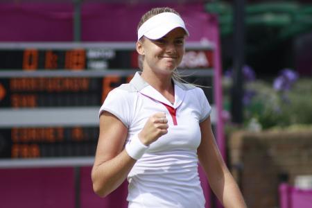 Daniela Hantuchová tijdens de Olympische Spelen in Londen (WikiCommons/TwoWings)