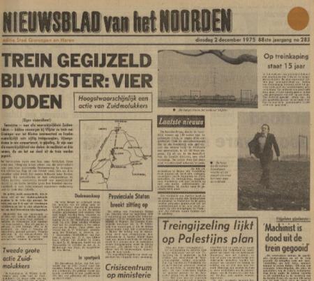 Uit het Nieuwsblad van het Noorden van 2 december 1975