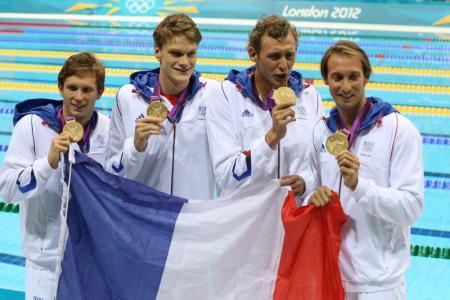 olympische spelen 2012 londen 30-07-2012 zwemmen goud voor Clement Lefert ,...