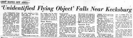 Uit de Greensburg Tribune van 10 december 1965