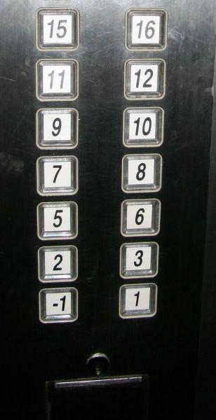 Een lift in Shanghai