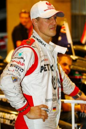 Michael Schumacher tijdens de Race of Champions vorig jaar in Bangkok (Foto: Pro Shots)